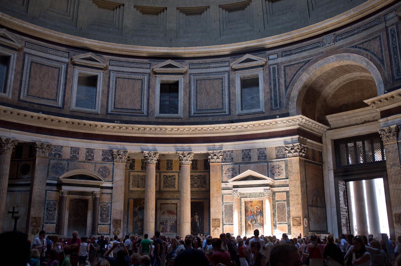 the Pantheon interior is amazing