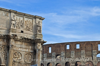 Arch of Constantine & the Colosseum, Rome, Italy