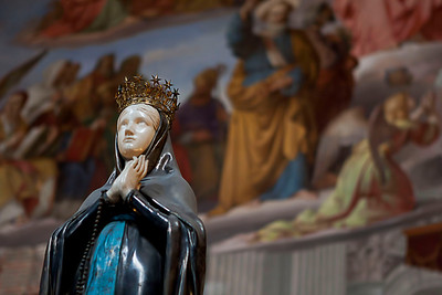 Virgin Mary room in the Vatican museum