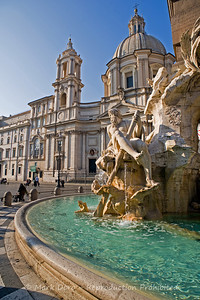 "Detail of Bernini's ""Fountain of the Four Rivers"", Piazza Navona, Rome, Italy"