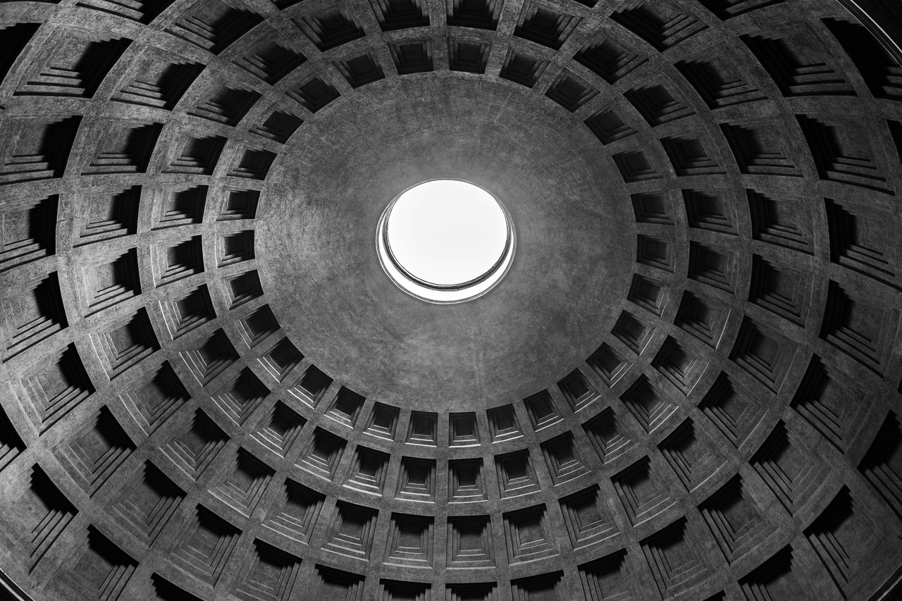 Pantheon open self supporting ceiling