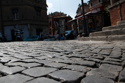 Most of the streets were made of cobblestones