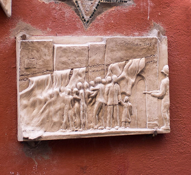 Detail - Jews being marched away to death in Rome to disappear