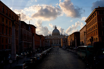 Supposedly this street was ordered to be widened by Mussolini, and so it was.
