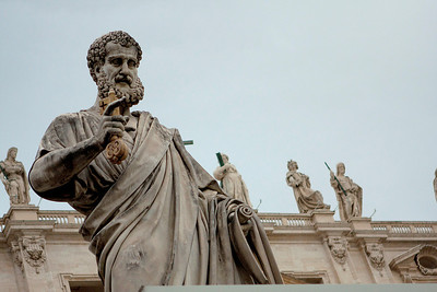 St. Peter.  Looks like he's had a few pigeon visitors too.