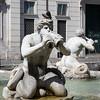 Fontana de Quattro fiumi in the Piazza Navona, Rome, Italy