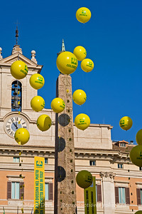 Egyptian Obelisk & Balloon's, Rome, Italy