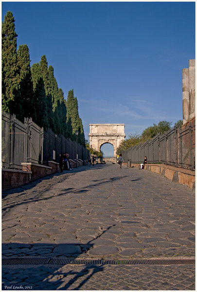 Arch of Titus along the Via Sacra.