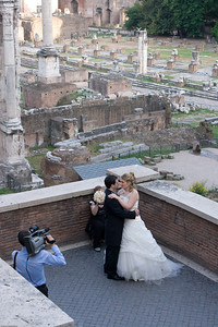 Couple getting married at the Roman Forum