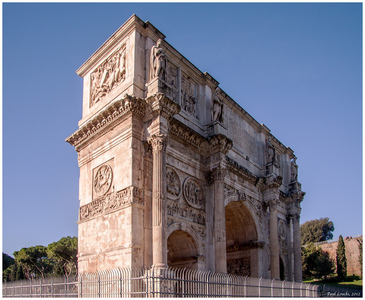 Another view of Constantine's Arch...