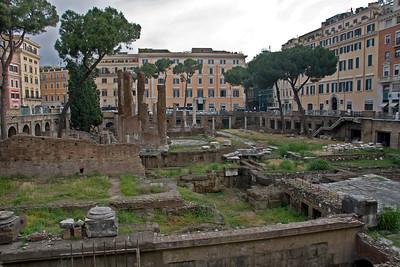 Republican temples where Julius Caesar was murdered.
