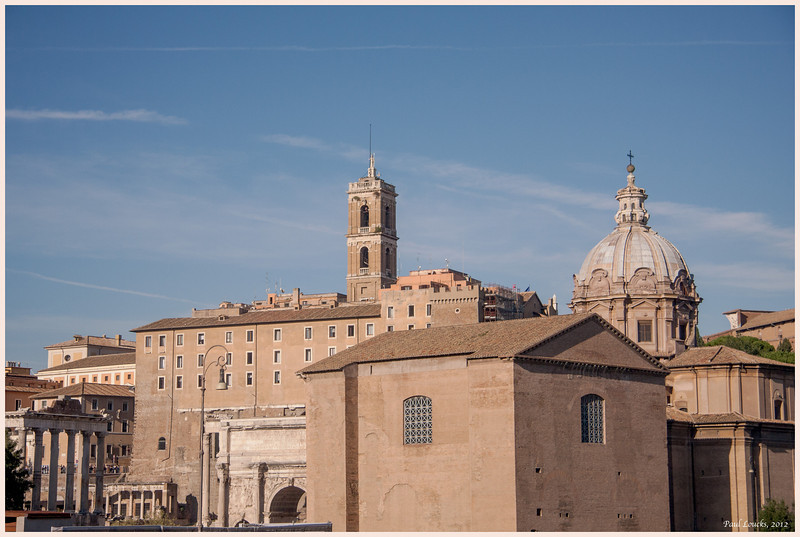 Santa Maria Luca Church at the edge of the ancient Forum.