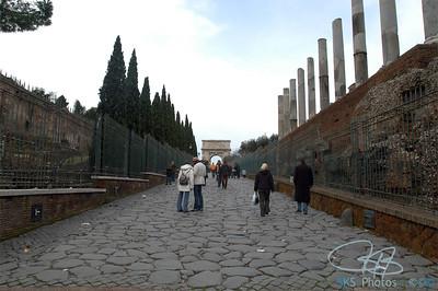 The Via Sacra entering the Roman Forum
