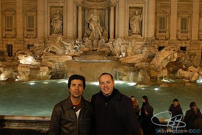 Tony & Me and Fontana di Trevi.  1-3-06