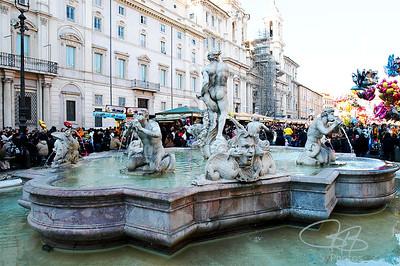 Bernini fountain, Piazza Navona