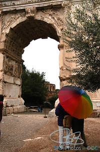 The Arch of Titus in the Forum.