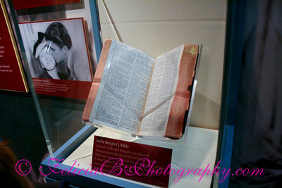 This was very moving to see - President Reagan's mother, Nelle's, Bible.