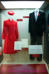 The clothes the Reagans wore to the President's first Inauguration.