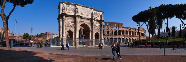 The Arc of Constantine and Colosseum