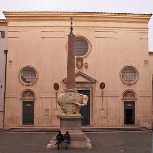 Santa Maria sopra Minerva and the Elephant of Bernini