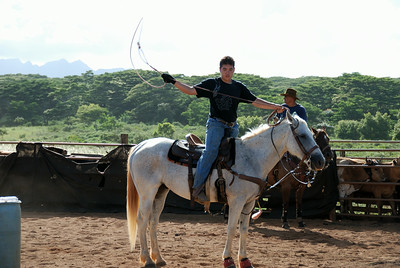 Ropin' and ridin' in Anahola, Kaua`i