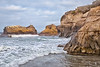 Rugged coast line. Rosarito Beach