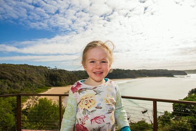 Scarlett on the Balcony at Rosedale - July 2014