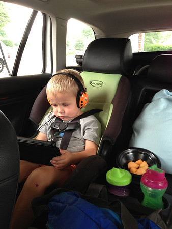 We split the 11 hour drive into two days.  Luca did great.  The technology helps.