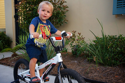 Luca loved riding Asher's big bike that we ended up getting him is own when we returned home.