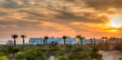 Sunset over Alys Beach