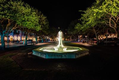 Rosemary Beach Water Fountain at night