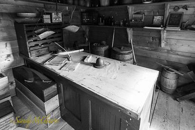 Interior of a small store. Ross Farm Museum, Nova Scotia.