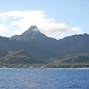 "A beautiful island!  The sharp peak in the center is Te Rua Manga, also known as ""the Needle."""