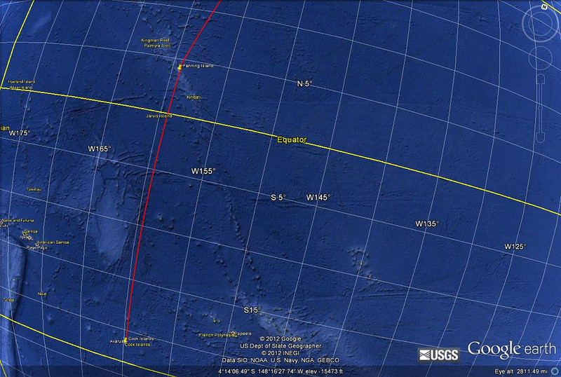 It was a 1756 mile sail from Fanning Island to Rarotonga, in the Cook Islands, taking three sea days and two calendar days (we re-crossed the legal international date line!)