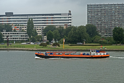 Along the River Maas approaching Rotterdam