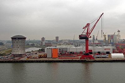 Along the River Maas in port of Rotterdam