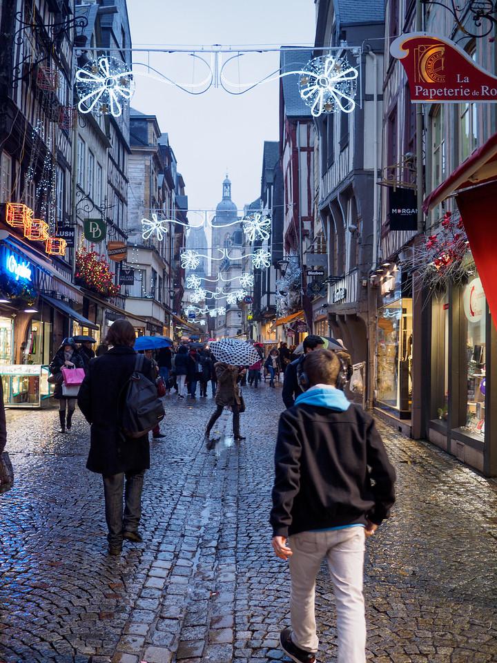 Rouen main shopping street