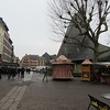 Open market (on the right) next to where Jeanne d'Arc was burnt at the steak.