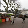 Open market next to where Jeanne d'Arc was burned at the steak.