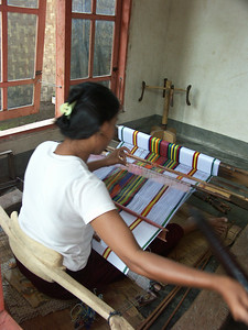 A weaver in action