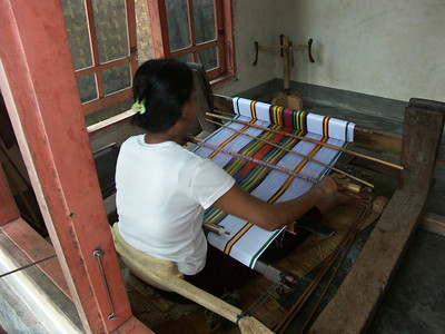 Another weaver at work
