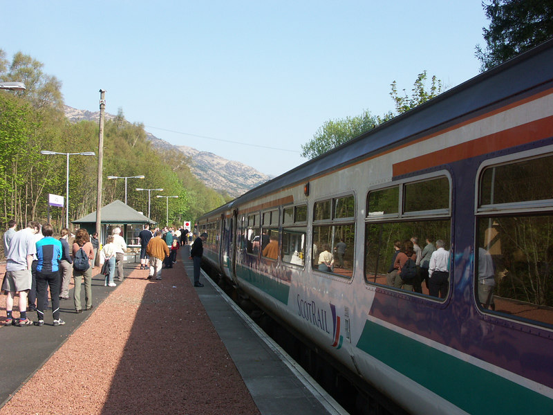 A station on the West Highland Line on my way to Mallaig for the ferry to the Isle of Skye