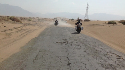 Sandy roads in Pakistan on our third day.