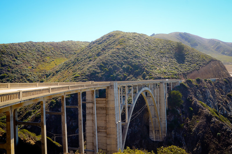 Bixby Bridge, which is famous for being in a bunch of car commercials.