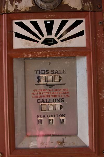 """Radiator Springs"" (Between Kingman, AZ and Oatman, AZ)-14½¢/gal. A lonnnnng time ago"