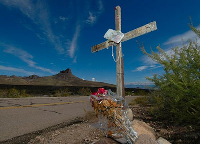 Roadside Memorial, Route 66 near Cool Springs
