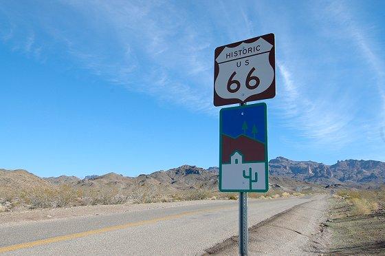 Route 66 near California and Arizona border