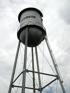 "MY KIND OF ""WATER"" TOWER Bourbon, Missouri  If you ever find yourself in need of a little libation, I'm sure the fine folks of this town will fix you right up. Now that's the giant economy size right there!"