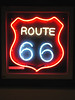 NEON ROUTE 66 SIGN<br /> Dixie Truck Stop, McLean, Illinois<br /> <br /> It did have this cool neon Route 66 sign, though, which I was sorely tempted to make off with. I do love neon.