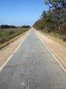 BACK ON THE ROAD<br /> Abandoned Route 66 Section, Oklahoma<br /> <br /> Well, if you ever wanted to see what the old Route 66 roadway looked like, this is it. This is a little piece of history right here.